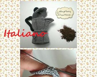 Moka pattern più SCHEMA OMAGGIO TAZZINE - Schema Moka amigurumi italiano - macchinetta caffè