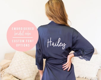 SPIDER design Embroidered onto an Adult Robe with Name of Choice Personalised