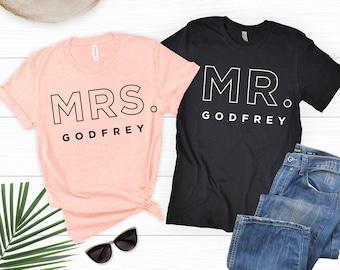 025b1848 Mr and Mrs Shirts, Honeymoon Shirts, Just Married Shirts, Fiance Shirt,  Engaged Shirts, Couple Shirt Set, Fiancee Shirt, Wife Hubs Shirts