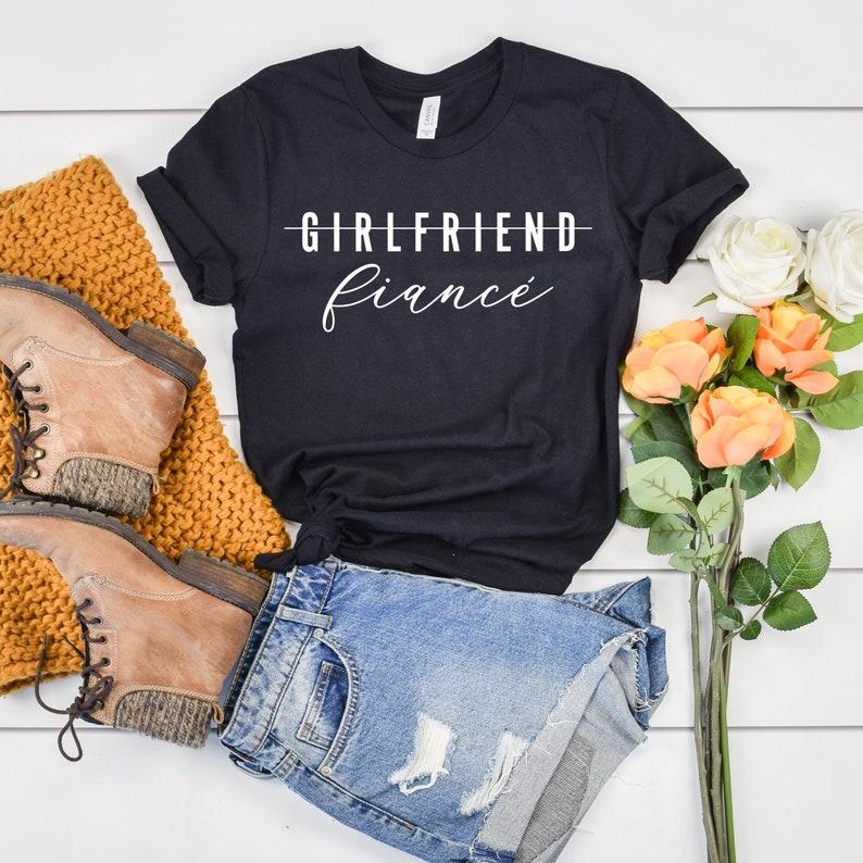 85902ab52 Fiancé Shirt Engaged Shirt Future Mrs Fiance T-Shirt Newly   Etsy