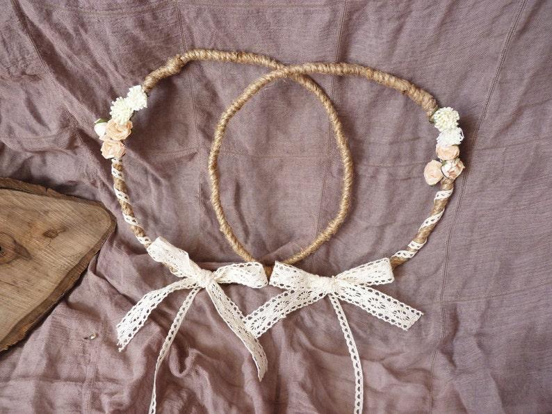 Stefana crowns, Στέφανα γάμου, greek wedding crowns, salmon white flowers  stefana, wedding crown, rustic stefana, handmade wedding crowns