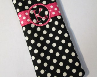 Monogram EyeGlass Case - #MEGC801 - Reading Glass Case or Pouch  - QUICK SHIP 1-3 Business Days