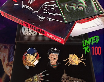 Nightmare on elm st deluxe pin collection box set
