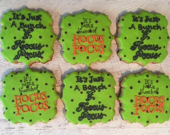 Quirky Halloween Plaque Cookies