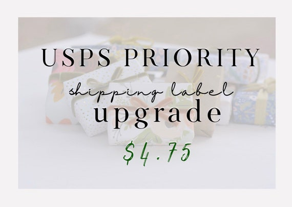 UPGRADE to PRIORITY Label from Standard US