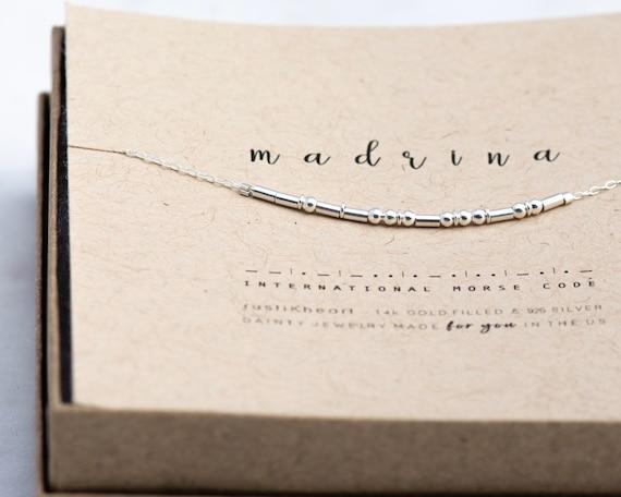 Madrina Necklace • Regalo Para Madrina Madrinas Godmother Gift Necklace Morse Code Madrina Collar Cadena