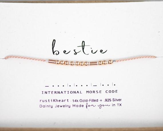 """""""Love Bracelet"""" Pre-Printed : Bestie, Sister, My Person..."""