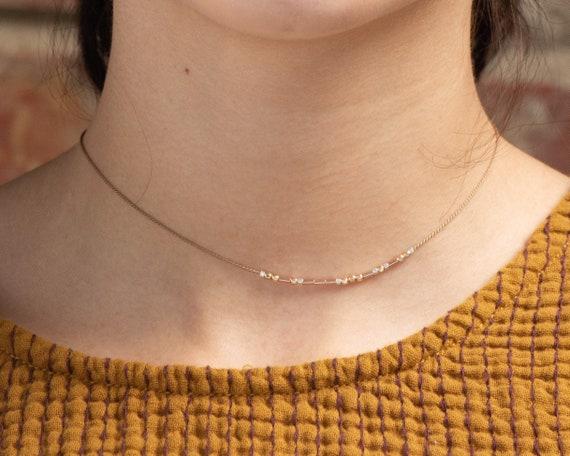 Morse Code Cord Necklace