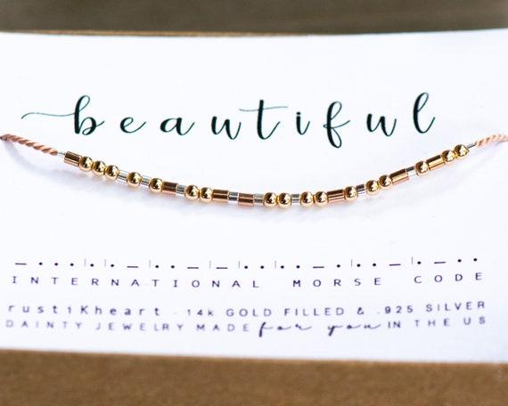 Mixed Metals Morse Code Bracelet - Beautiful