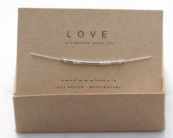 Silver Morse Bracelet