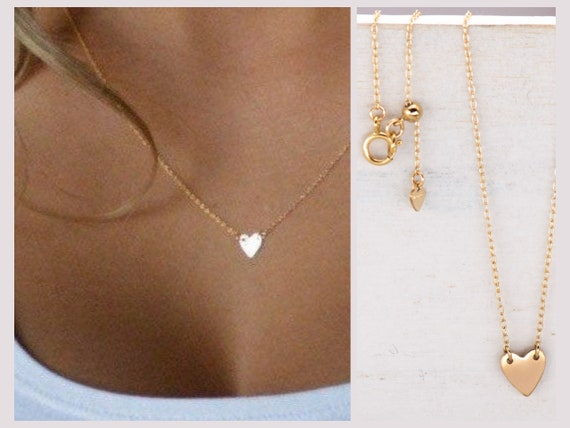 Dainty 14K Gold-Filled Heart Necklace