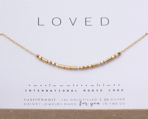 Lola Morse Code Necklace