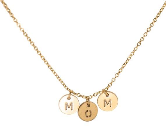 MOM Letter Discs Necklace