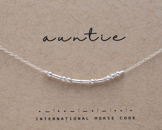 Dainty Sterling Auntie or Custom