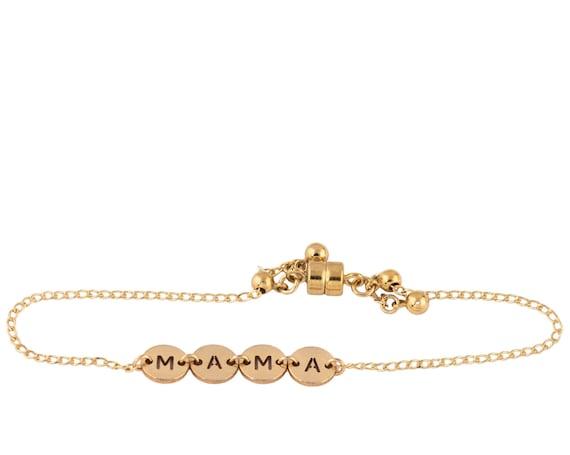 Mama Golden Coin Bracelet