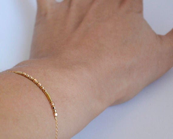 Faceted Gold Bracelet