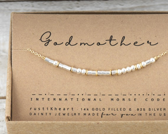 Mixed Metals Godmother Or Custom Morse Code Bracelet