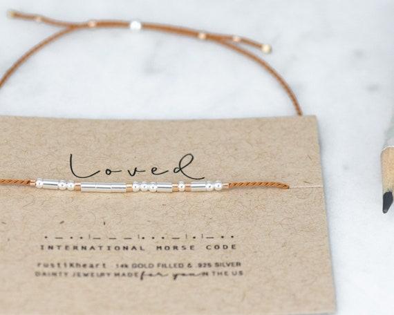 Loved Morse Code Bracelet