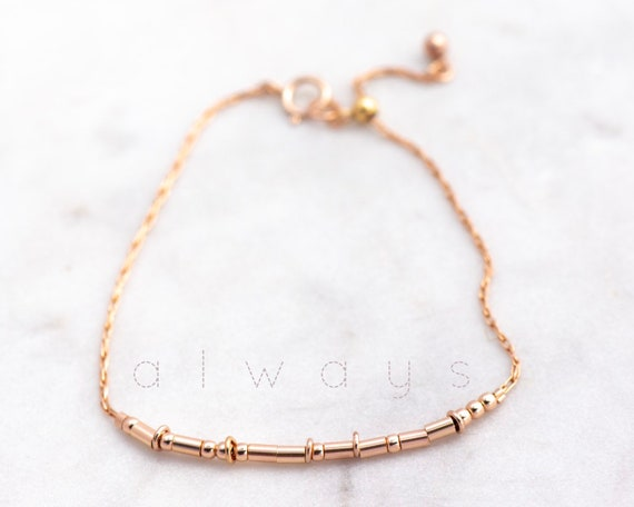 Rose Gold Hoops Bracelet
