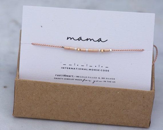 Mama Bracelet • Mama Gift Morse Code Bracelet • Mom Bracelet Mother Gift For Mom regalo para mama pulsera mami madre en clave morse
