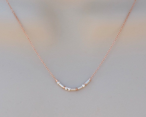 Dainty Silver on Rose Chain