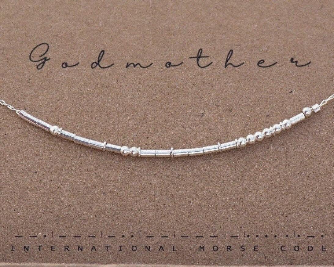 Godmother Necklace Godmother Gift Godmother Morse Code Necklace Morse Code Necklace