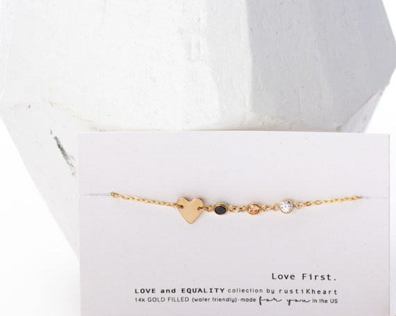 Love and Equality Bracelet • 14K Gold Filled