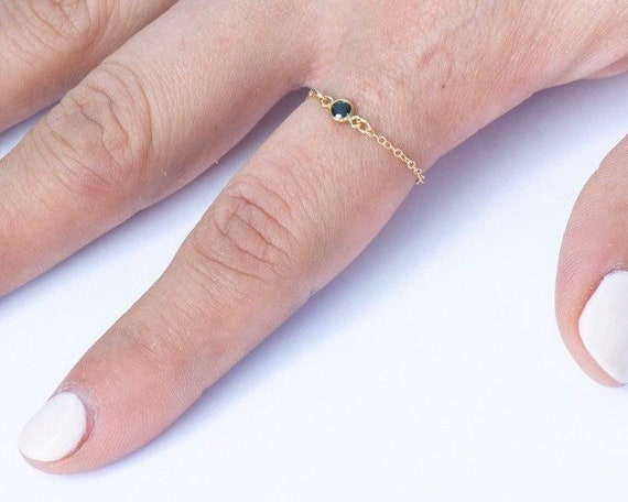 Gold and Black Chain Ring