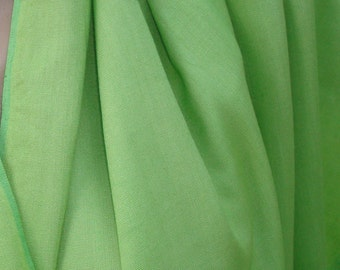 light Green Vintage Natural Fabric, Sheer Retro Green Fabric, Dressmaking Old Fabric, Patshwork, Project Fabric, Viscose Sewing Fabric, Sale