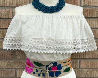 Mexican Blouse, Fiesta Blouse, Campesina