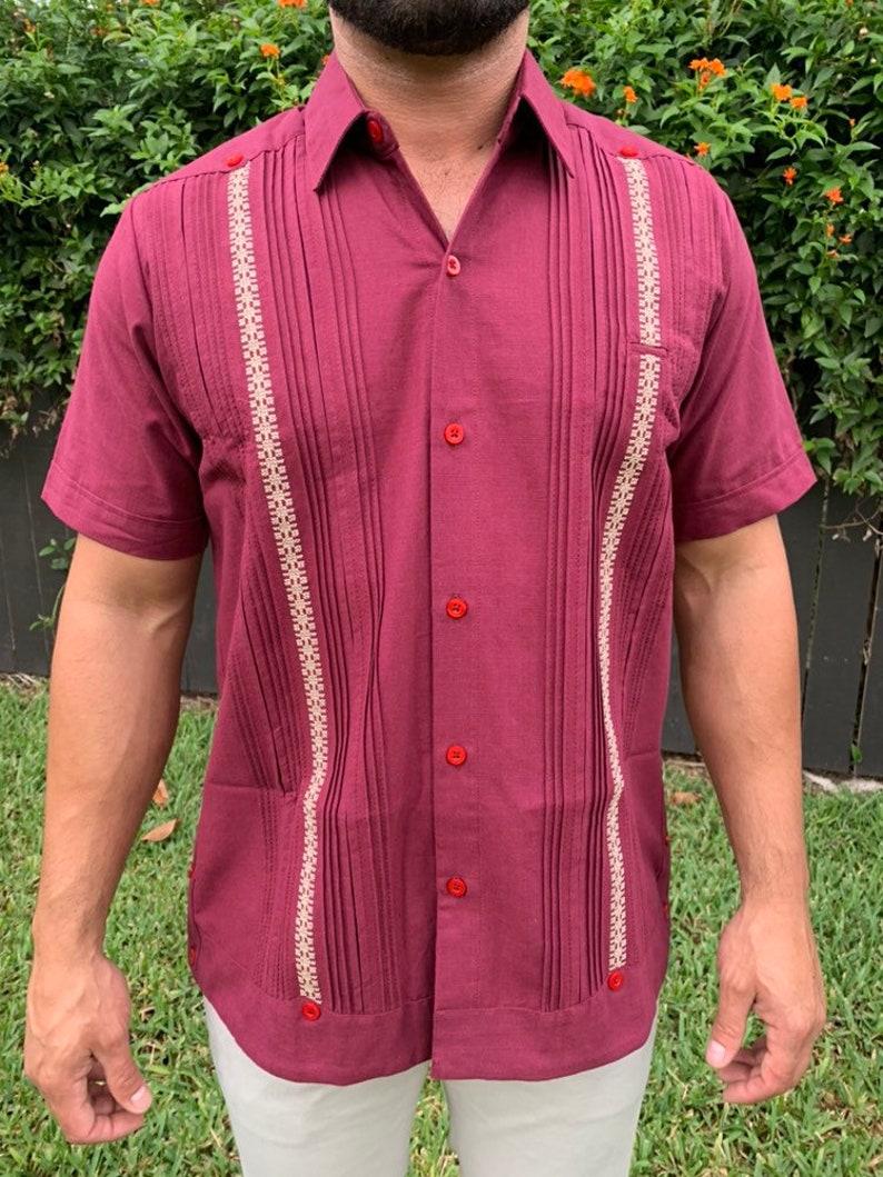 Linen Guayabera Men/'s Mexican Shirt Mexican Shirt Mexican Guayabera