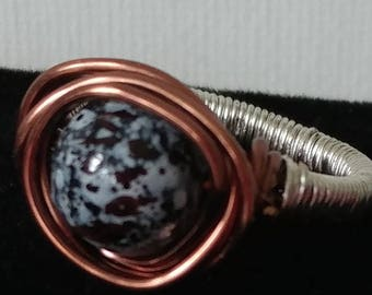 Copper Moon Wire Wrapped Ring