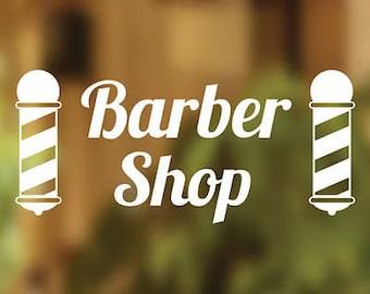 Barbers Shop Vinyl Sign Hairdressers Hair Salon Window Lettering Sticker Art