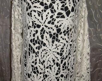 """Crochet irish lace dress, irish crochet, crochet lace, irish lace dress, crochet dress, irish crochet dress, lace dress """"White Magic"""""""