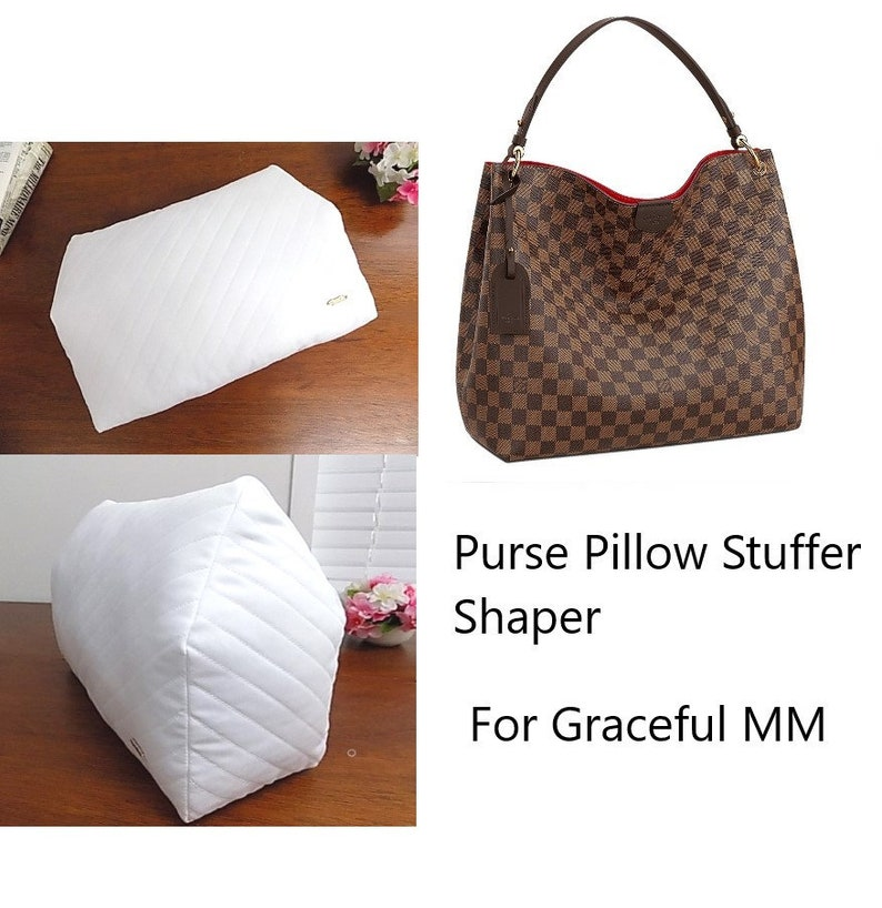 87349f733f7 LV Graceful MM Handbag Storage pillow ~ Bag Shape Stuffer for Graceful MM  bags ~ Contoured quilted bag pillows~ Handbags Storage Accessories