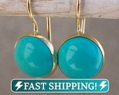Turquoise Earrings 14K Gold Earrings Gold Drop Earrings Gemstone Earrings Turquoise Jewelry boho Earrings December Birthstone