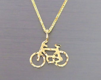 14k gold charm etsy bicycle pendant 14k gold bicycle pendant bicycle neckalce gold bicycle necklace 14k gold bicycle pendant gold bicycle charm aloadofball Image collections
