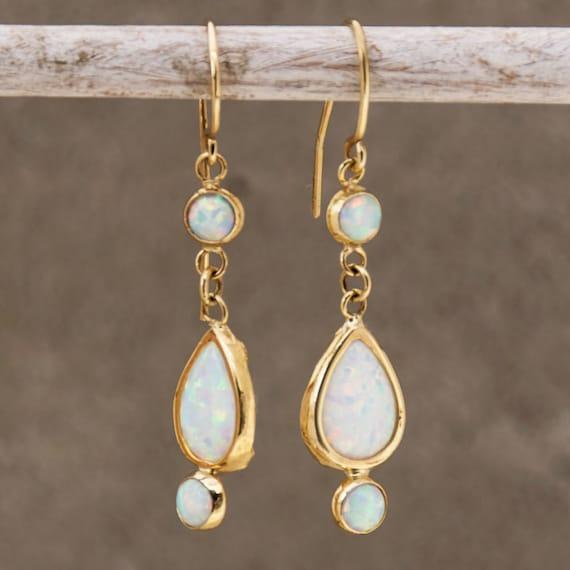 opal earrings white opal earrings opal dangle earrings silver drop earrings opal drop earrings dangle earrings white opal