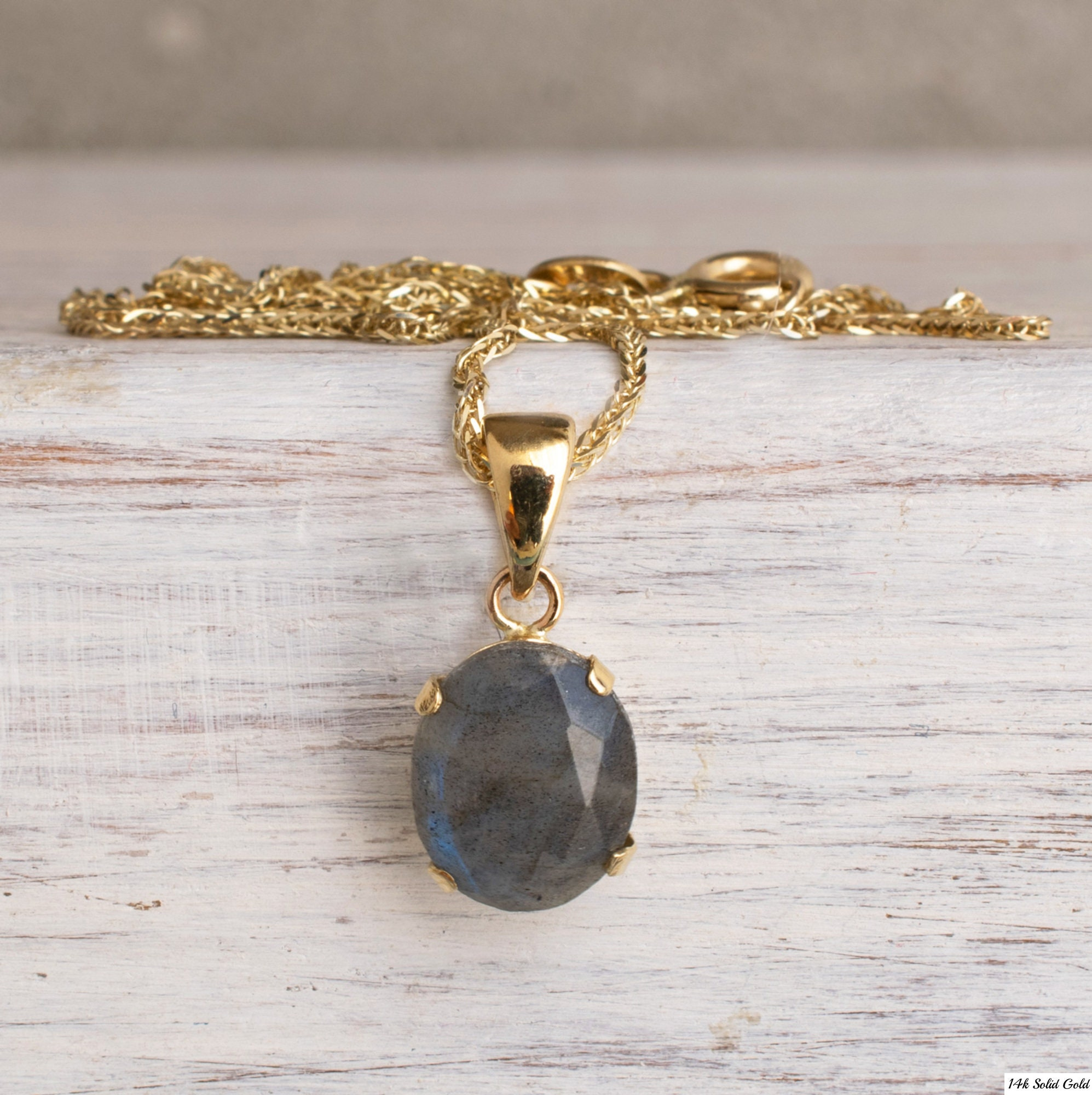 Natural Labradorite Necklace,Chain Necklace,February Birthstone Necklace,Sterling Silver Necklace,14 K Gold,Rose Gold Necklace,Gift For Her
