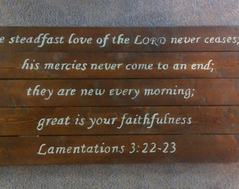 Wooden Wall Hanging with Bible Verse