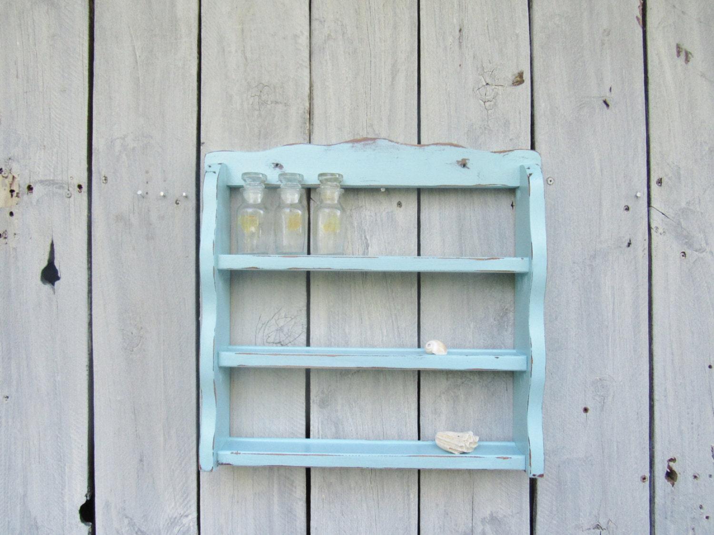 Küsten Cottage blau Gewürzregal Strand-Stil Küche Anzeige