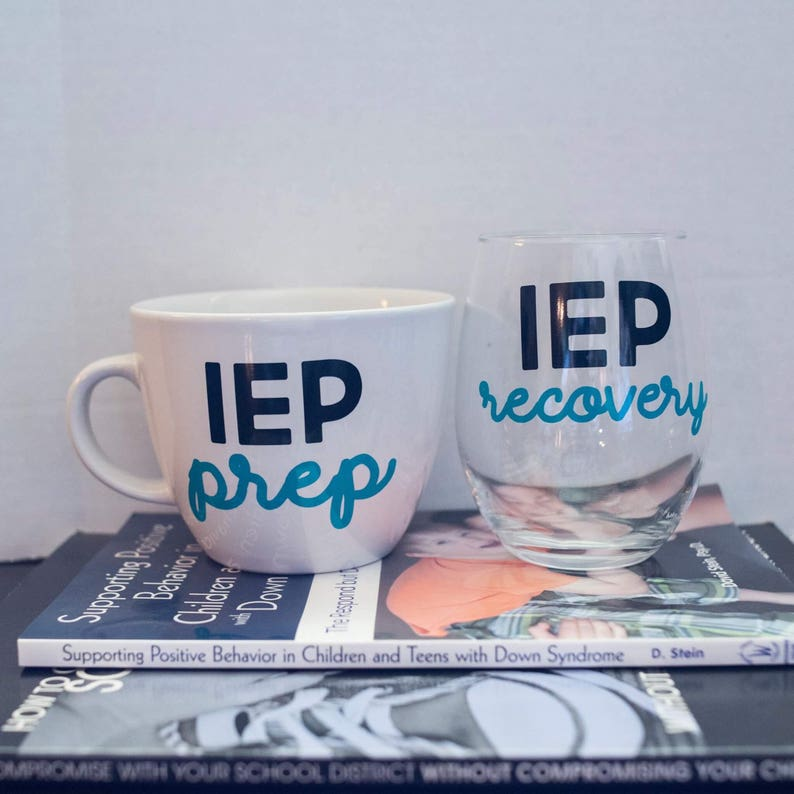 Are You Ready For Your Iep Meeting >> Iep Prep And Iep Recovery Wine Glass And Coffee Mug Set Etsy