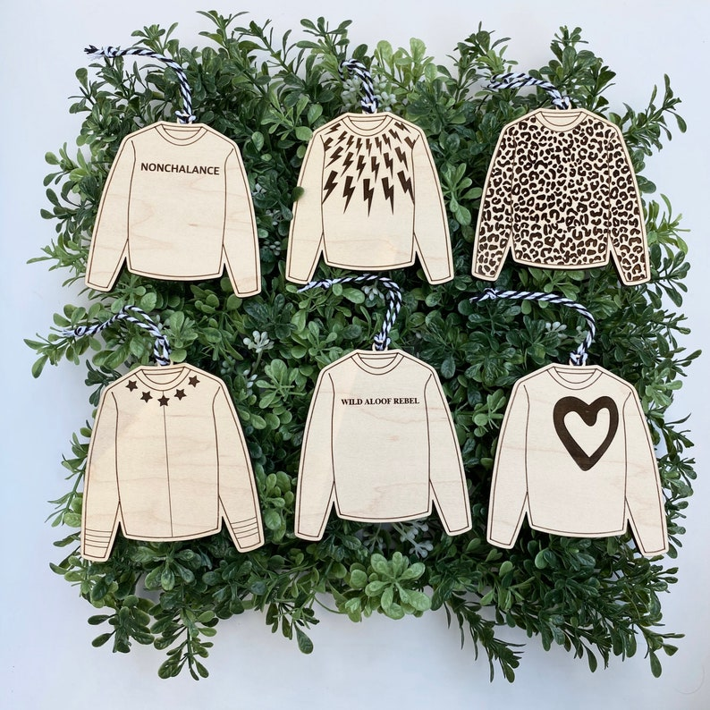 Top 27 Best Schitt's Creek Gifts from Etsy featured by top Seattle lifestyle blogger, Marcie in Mommyland: David Rose Sweater Christmas Ornament image 0