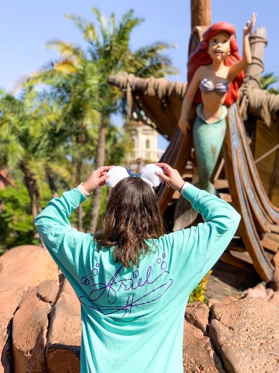 Disney Parks Store Ariel Signature T-Shirt for Kids Girls The Little Mermaid New