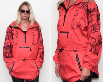 00e7cc7e6138 Vintage Red Nils Ski jacket/ Light ski jacket/ Pullover windbreaker/ Size  Medium
