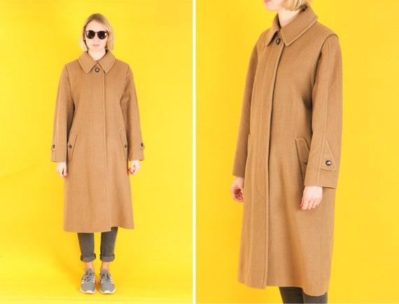 Vintage Karner camel wool coat/ Made in Germany/ C