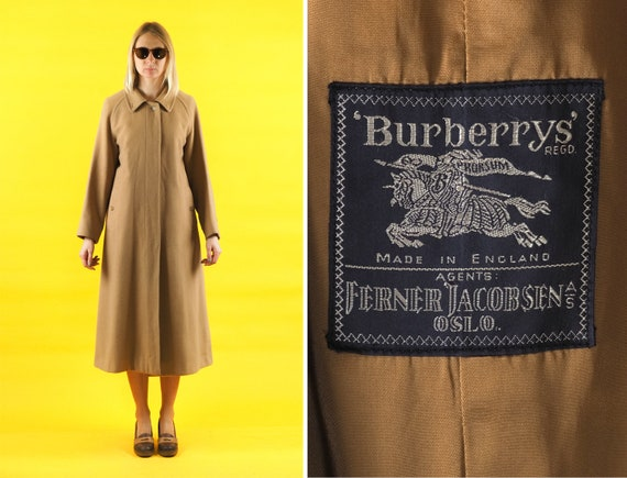 Vintage BURBERRYS camel wool coat/ Made in England