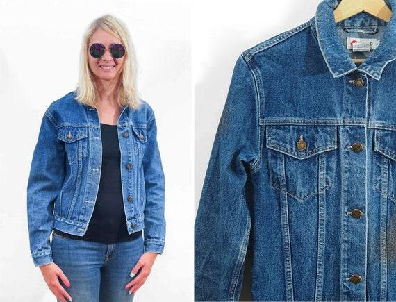 Vintage Women denim jacket 90s jeans jacket Yokoo Blue jacket Vintage blazer 90s Urban Size XSmall Small UK 6 8 EU 34 36