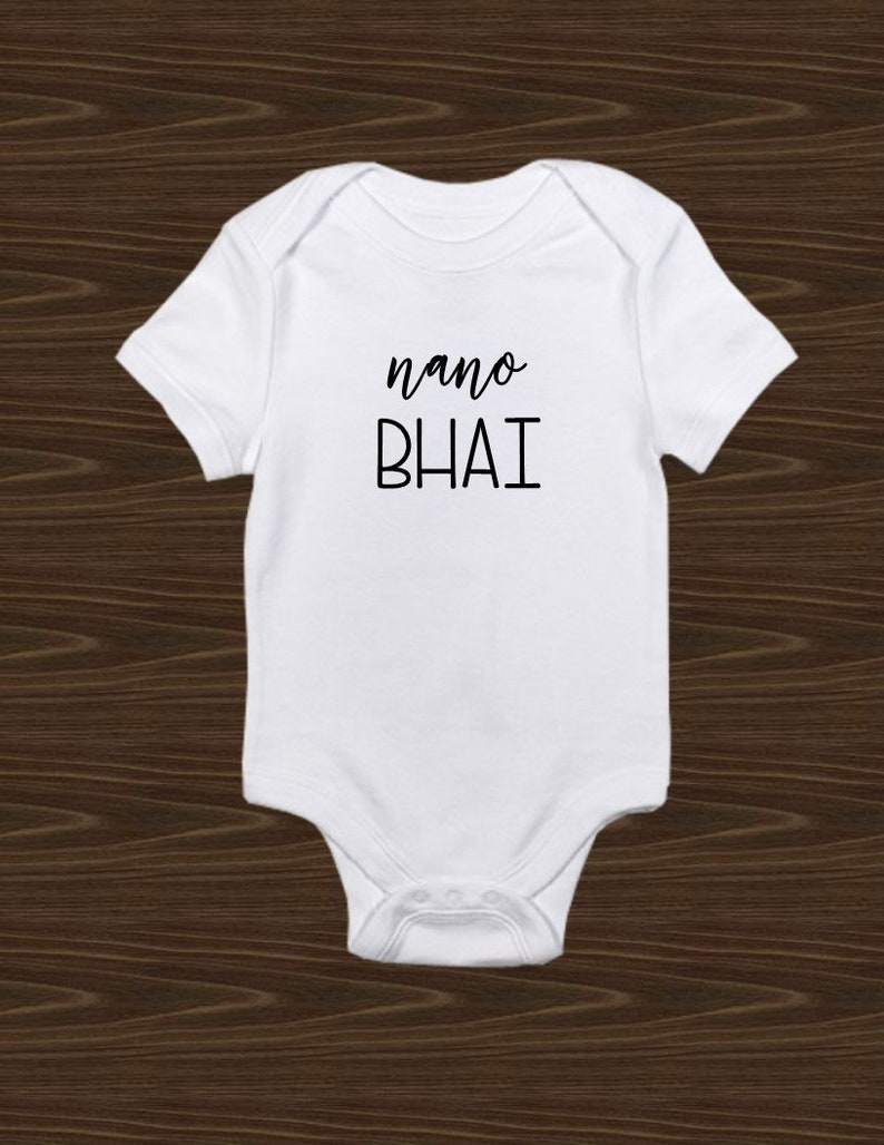 49f5c15de Nano bhai nani behni younger sibling indian onesie older