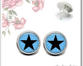 Stud Earrings 5 Selection colors for election star 1 OSH-012-129